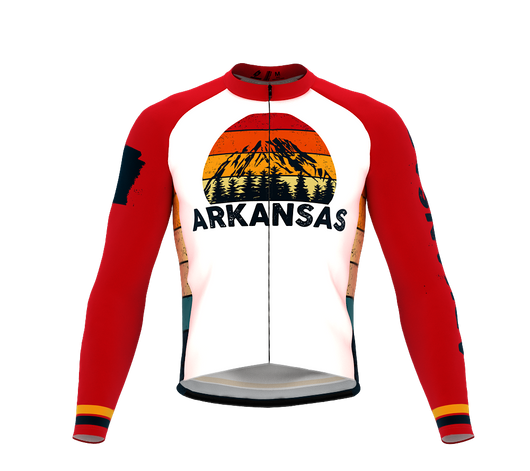 ScudoPro Pro Thermal Long Sleeve Cycling Jersey Arkansas USA state Icon landmark identity  | Men and Women