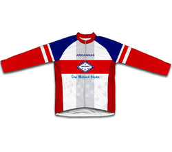 Arkansas Flag Winter Thermal Cycling Jersey