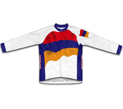 Armenia Flag Winter Thermal Cycling Jersey