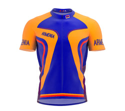 Armenia  Full Zipper Bike Short Sleeve Cycling Jersey