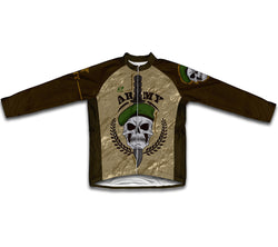 Army Skull Winter Thermal Cycling Jersey