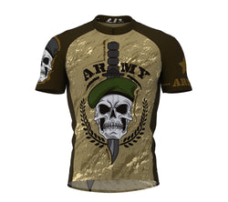 Army Skull Cycling Jersey Short Sleeve for Men and Women