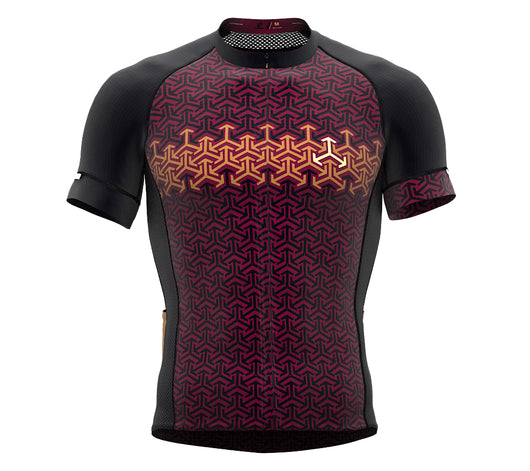 Arrows Red Short Sleeve Cycling PRO Jersey