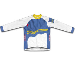 Aruba Flag Winter Thermal Cycling Jersey