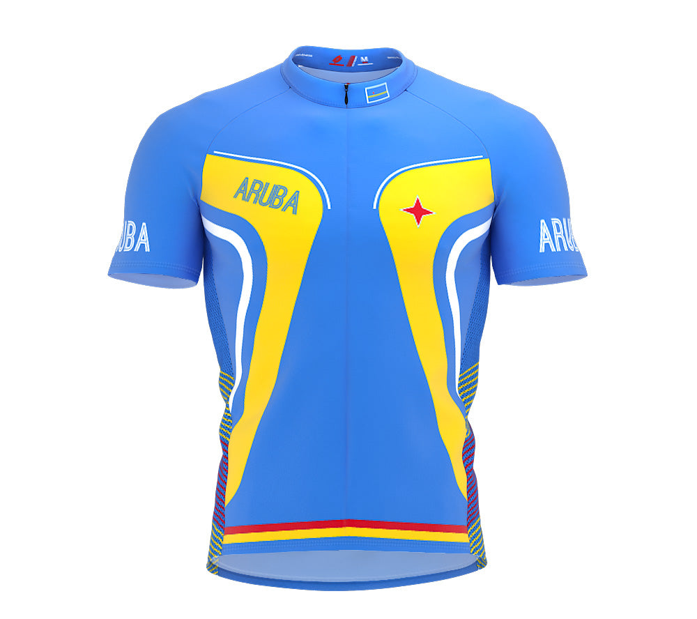 Aruba  Full Zipper Bike Short Sleeve Cycling Jersey