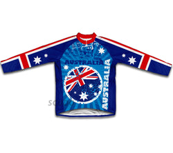 Australia Flag Winter Thermal Cycling Jersey