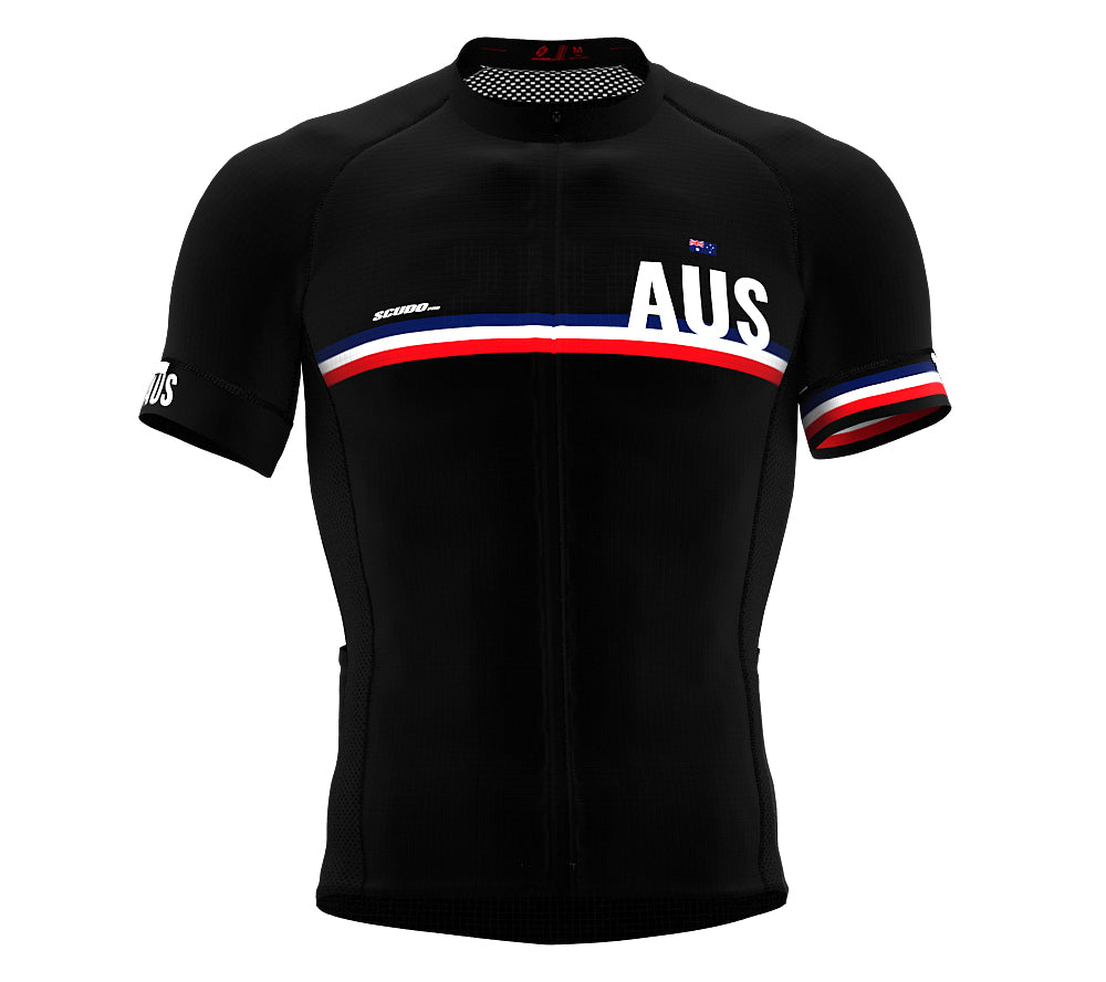 Australia Black CODE Short Sleeve Cycling PRO Jersey for Men and WomenAustralia Black CODE Short Sleeve Cycling PRO Jersey for Men and Women
