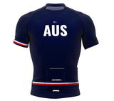 Australia Blue CODE Short Sleeve Cycling PRO Jersey for Men and Women