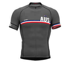 Australia Gray CODE Short Sleeve Cycling PRO Jersey for Men and WomenAustralia Gray CODE Short Sleeve Cycling PRO Jersey for Men and Women