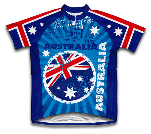 Australia Short Sleeve Cycling Jersey for Men and Women
