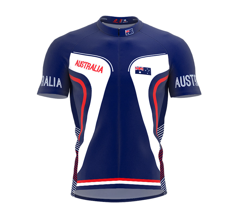 Australia  Full Zipper Bike Short Sleeve Cycling Jersey