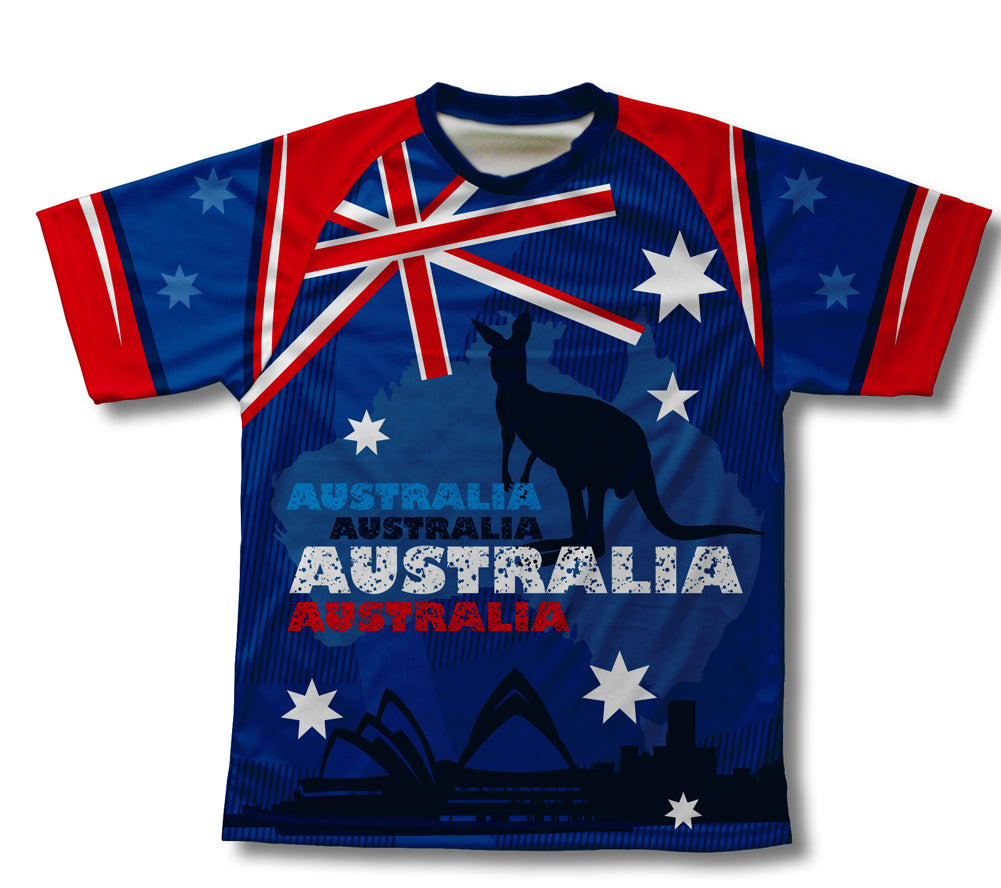 Australia Kangaroo Technical T-Shirt for Men and Women