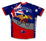 Australia Kangaroo Rider Short Sleeve Cycling Jersey for Men and Women