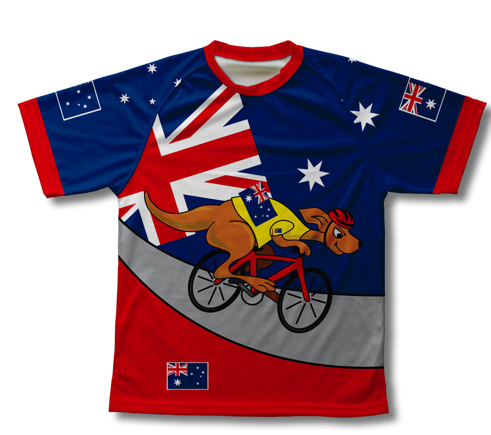Australia Kangaroo Rider Technical T-Shirt for Men and Women