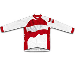 Austria Flag Winter Thermal Cycling Jersey