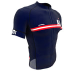 Austria Blue CODE Short Sleeve Cycling PRO Jersey for Men and Women
