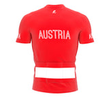 Austria  Full Zipper Bike Short Sleeve Cycling Jersey