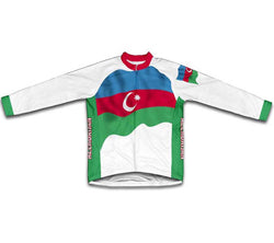 Azerbaijan Flag Winter Thermal Cycling Jersey