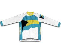 Bahamas Flag Winter Thermal Cycling Jersey