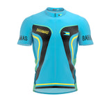 Bahamas  Full Zipper Bike Short Sleeve Cycling Jersey