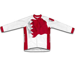 Bahrain Flag Winter Thermal Cycling Jersey