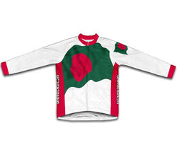 Bangladesh Flag Winter Thermal Cycling Jersey