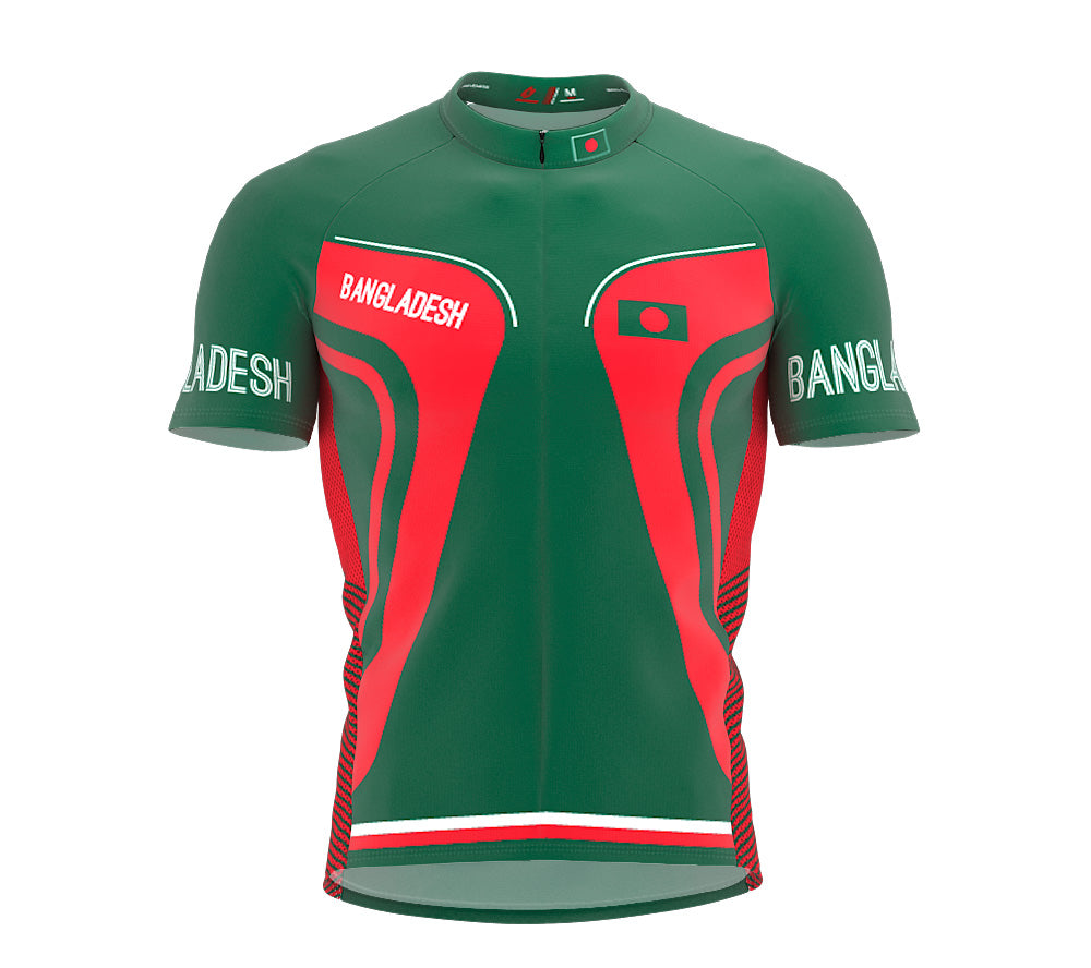 Bangladesh  Full Zipper Bike Short Sleeve Cycling Jersey