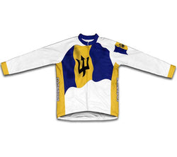 Barbados Flag Winter Thermal Cycling Jersey