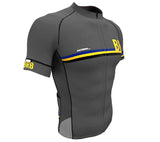 Barbados Gray CODE Short Sleeve Cycling PRO Jersey for Men and Women