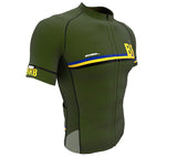 Barbados Green CODE Short Sleeve Cycling PRO Jersey for Men and Women