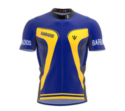 Barbados  Full Zipper Bike Short Sleeve Cycling Jersey