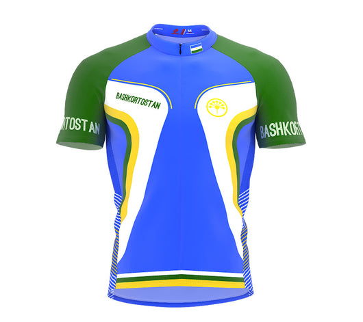 Bashkortostan  Full Zipper Bike Short Sleeve Cycling Jersey