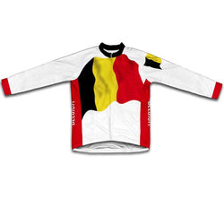 Belgium Flag Winter Thermal Cycling Jersey