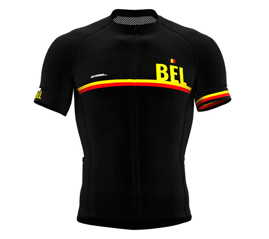 Belgium Black CODE Short Sleeve Cycling PRO Jersey for Men and WomenBelgium Black CODE Short Sleeve Cycling PRO Jersey for Men and Women