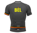 Belgium Gray CODE Short Sleeve Cycling PRO Jersey for Men and Women