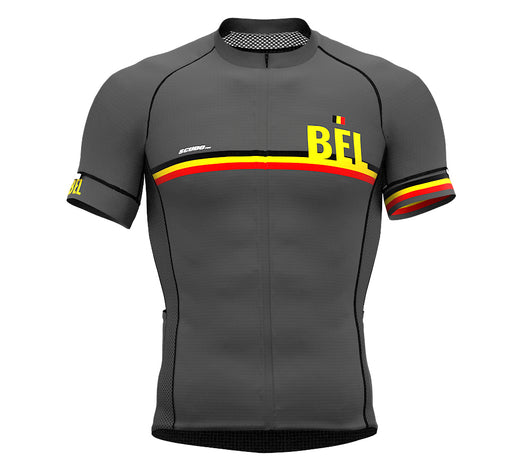 Belgium Gray CODE Short Sleeve Cycling PRO Jersey for Men and WomenBelgium Gray CODE Short Sleeve Cycling PRO Jersey for Men and Women