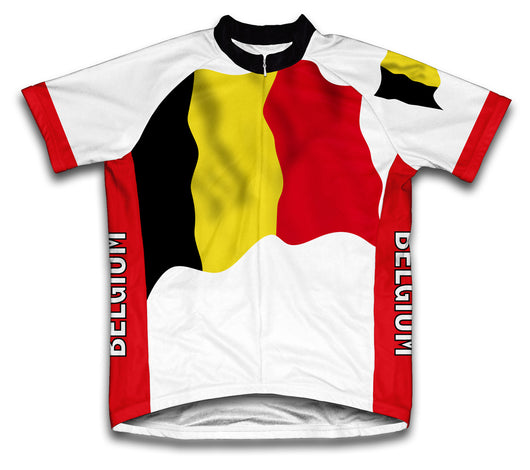 Belgium Flag Cycling Jersey for Men and Women