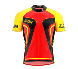 Belgium  Full Zipper Bike Short Sleeve Cycling Jersey