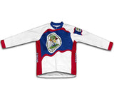 Belize Flag Winter Thermal Cycling Jersey