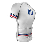 Belize White CODE Short Sleeve Cycling PRO Jersey for Men and Women