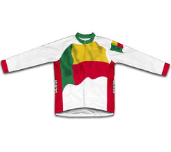 Benin Flag Winter Thermal Cycling Jersey