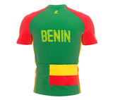 Benin  Full Zipper Bike Short Sleeve Cycling Jersey