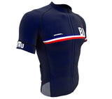 Bermuda Blue CODE Short Sleeve Cycling PRO Jersey for Men and Women