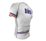 Bermuda White CODE Short Sleeve Cycling PRO Jersey for Men and Women