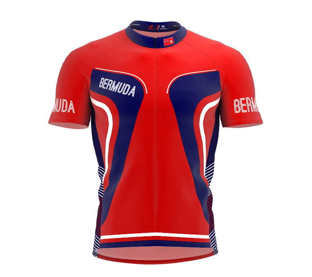 Bermuda  Full Zipper Bike Short Sleeve Cycling Jersey
