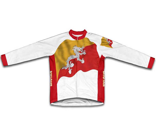 Bhutan Flag Winter Thermal Cycling Jersey