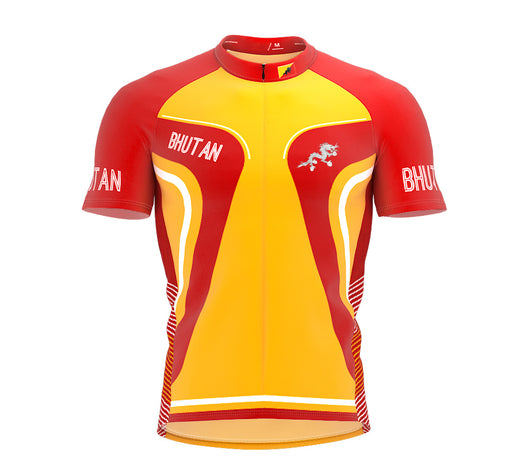 Bhutan  Full Zipper Bike Short Sleeve Cycling Jersey