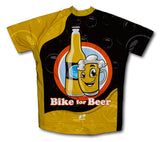 Bike for Beer Short Sleeve Cycling Jersey for Men and Women