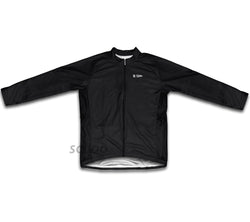 Black Winter Thermal Cycling Jersey