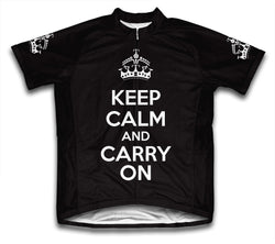 Keep Calm and Carry On Black Cycling Jersey